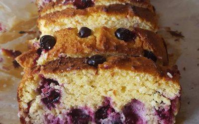 RECIPE: Lemon, Coconut and Blackcurrant Loaf Cake