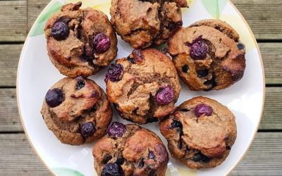 RECIPE: Banana and blueberry protein muffins