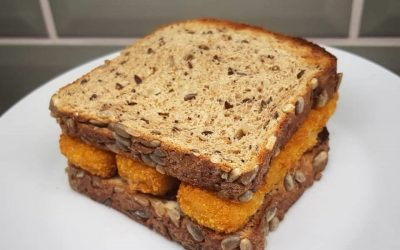 Fish finger sandwich (yum!) and food for mental health