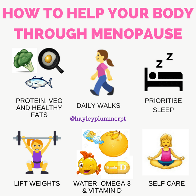 How to help your body through menopause