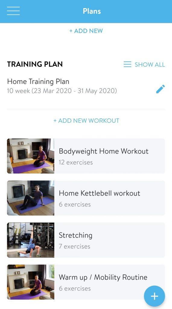 Online fitness coach - training plan