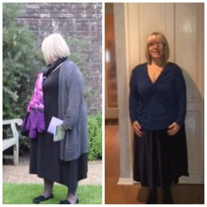Online weight loss coach - client result